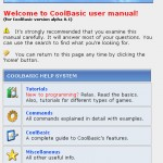 The unpublished CoolBasic User Manual front page, 2005/2006